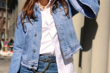 all-denim look